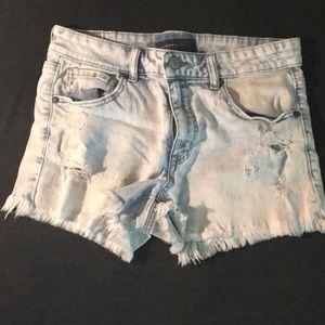 EUC Distressed Aeropostale Jean Shorts sz 6
